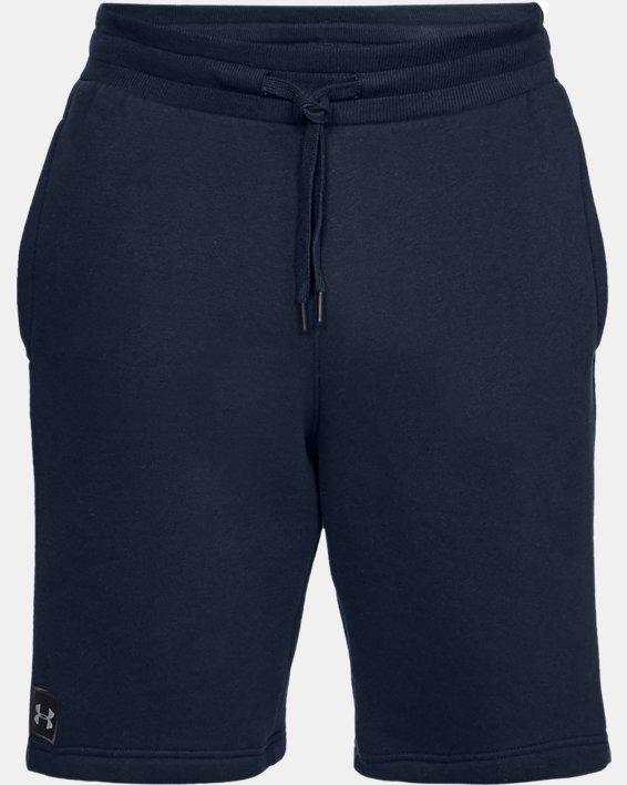 Men's UA Rival Fleece Shorts, Navy, pdpMainDesktop image number 3