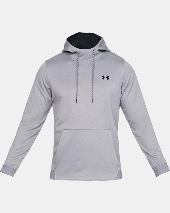 Men's Armour Fleece® Hoodie, Gray, pdpMainDesktop image number 3