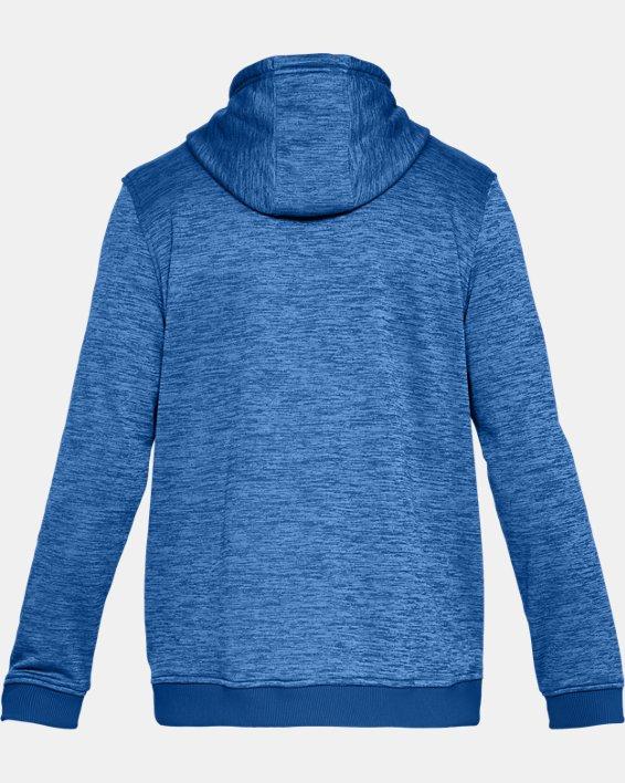 Men's Armour Fleece® Twist Hoodie, Blue, pdpMainDesktop image number 4