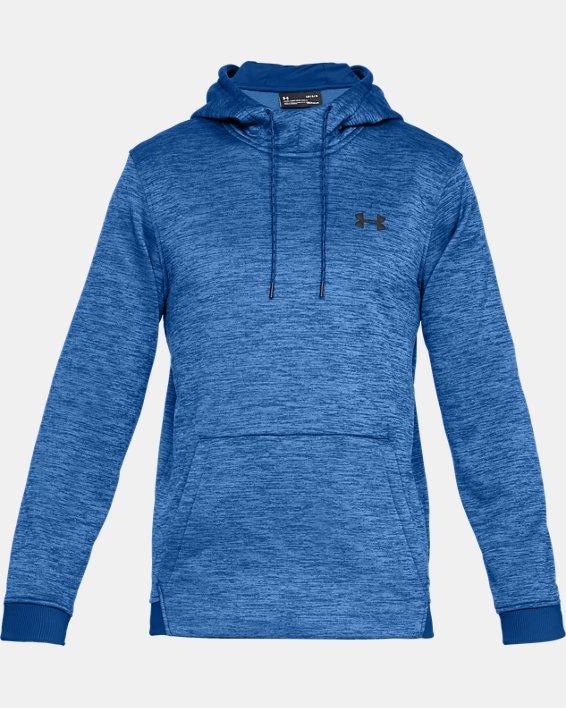 Men's Armour Fleece® Twist Hoodie, Blue, pdpMainDesktop image number 3