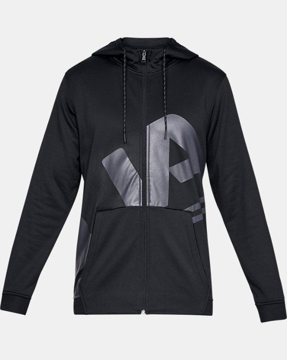Men's Armour Fleece® Full-Zip, Black, pdpMainDesktop image number 4