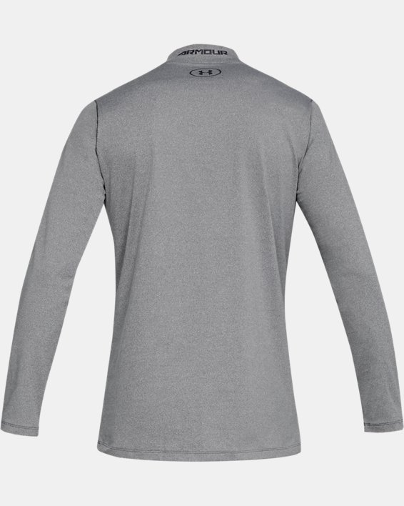 Men's ColdGear® Armour Fitted Mock, Gray, pdpMainDesktop image number 4