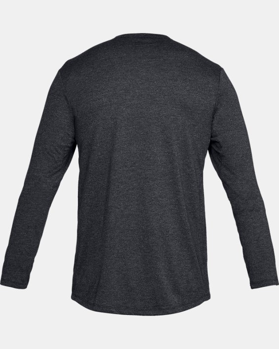 Men's UA Microthread Long Sleeve, Black, pdpMainDesktop image number 4