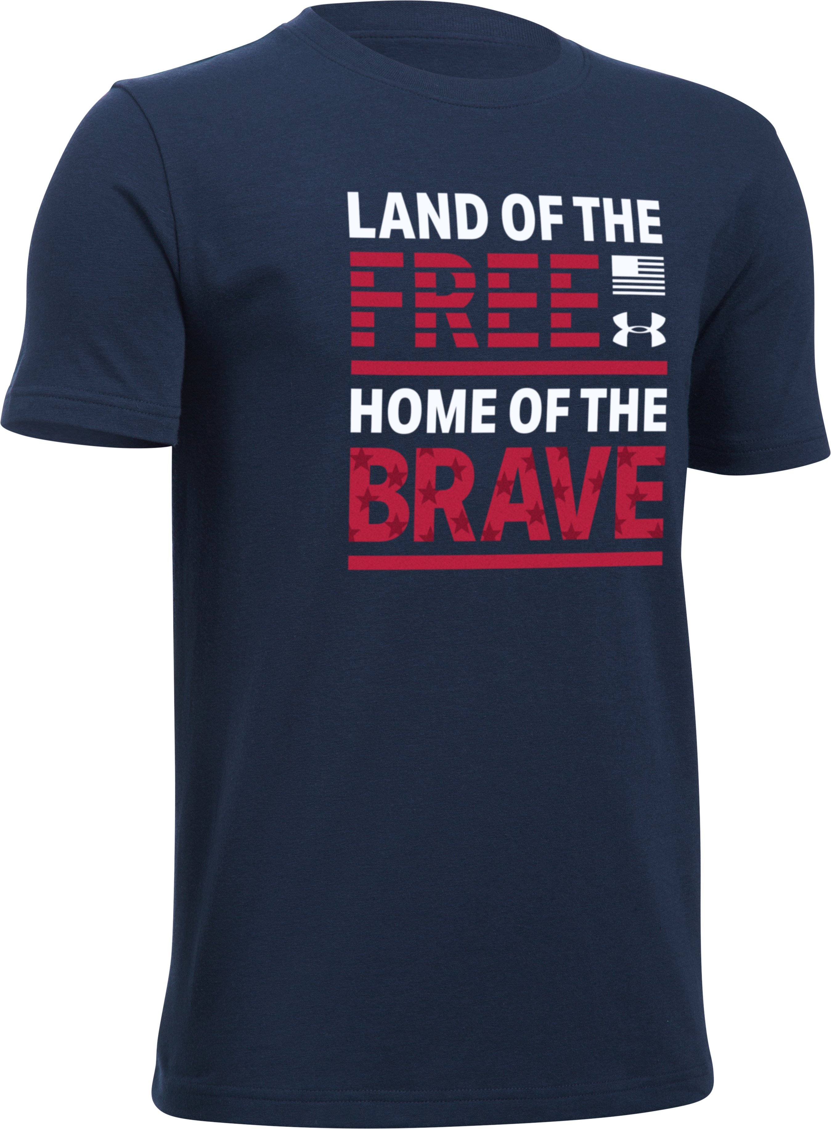 Boys' UA Land of The Free T-Shirt, Midnight Navy, undefined
