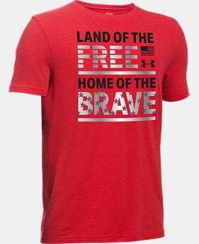Boys' UA Land of The Free T-Shirt  1 Color $11.24