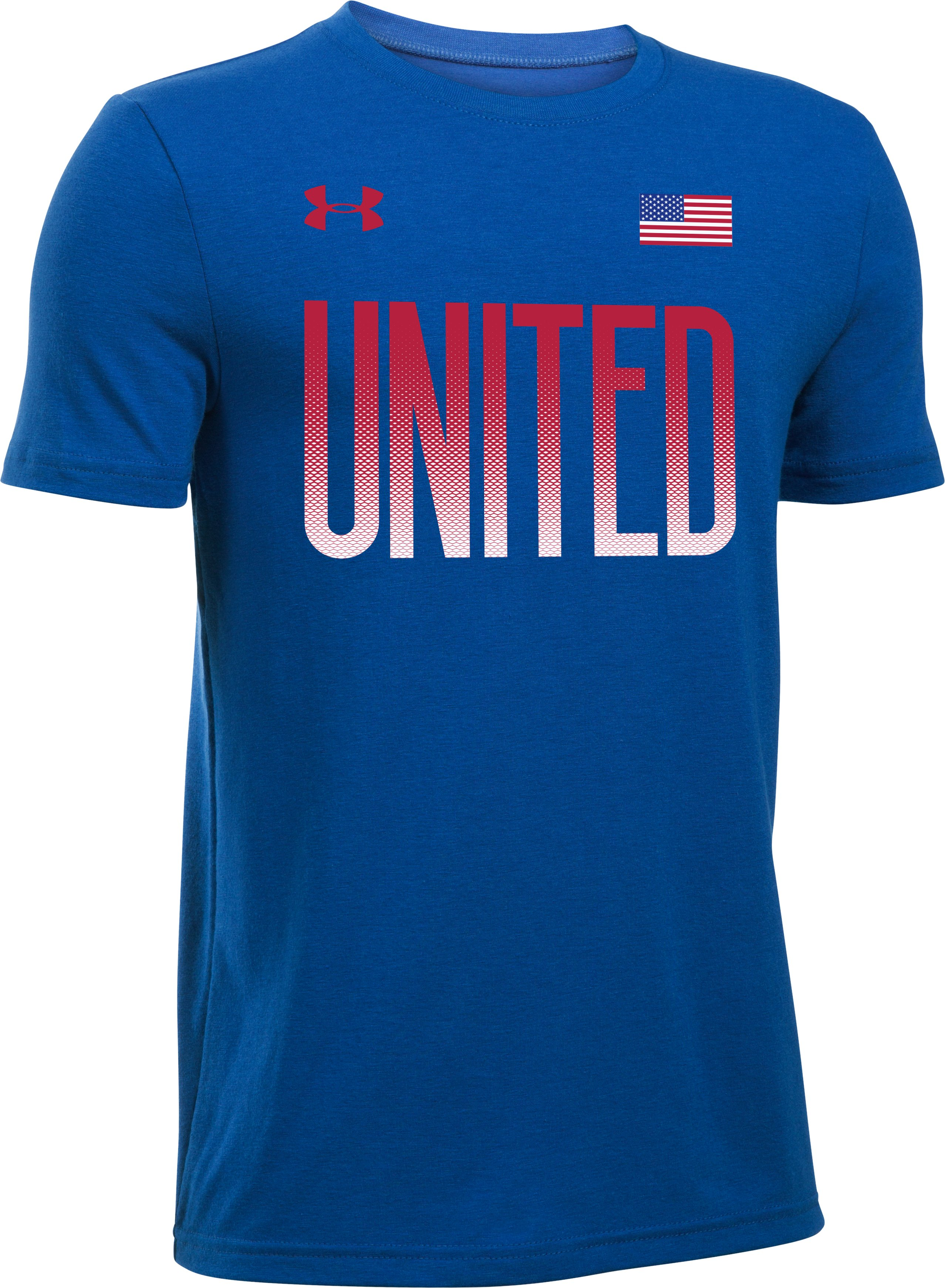Boys' UA United T-Shirt, Royal,