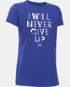 Girls' UA Never Give Up T-Shirt  1 Color $11.24