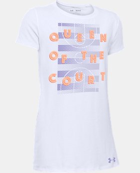 Girls' UA Queen Of The Court T-Shirt  1 Color $11.24