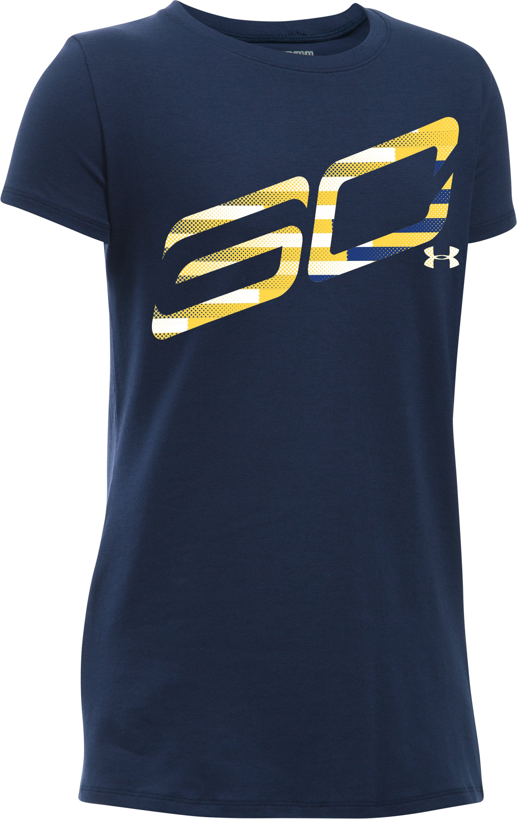 Girls' SC30 Logo T-Shirt, Midnight Navy, undefined