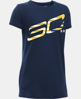 Girls' SC30 Logo T-Shirt  1 Color $14.24