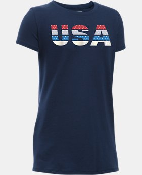 Girls' UA USA Pride T-Shirt  2 Colors $14.99