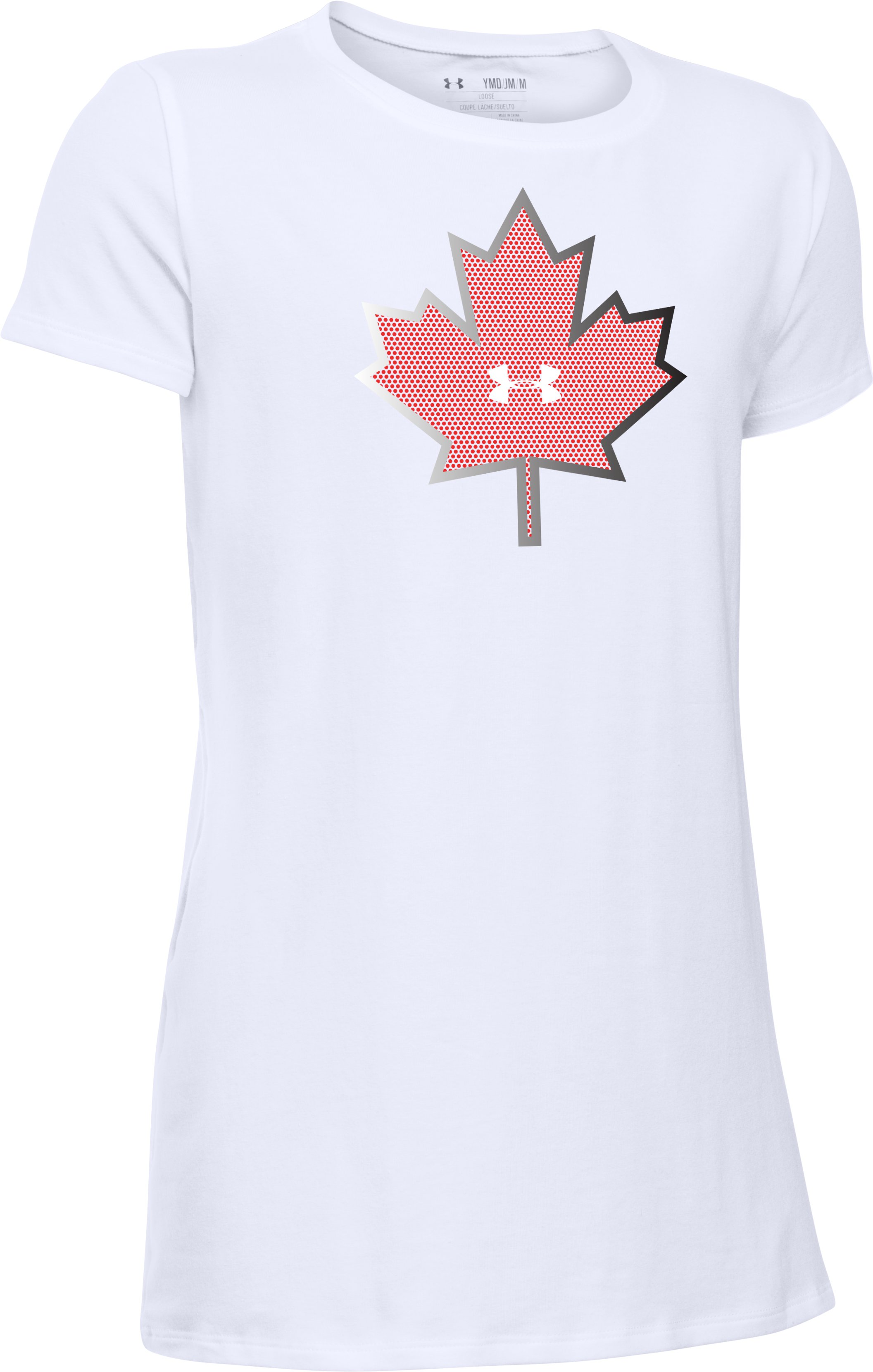 Girls' UA Canada Package T-Shirt, White,