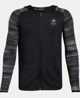 New Arrival  Boys' UA Team Canada Performance Threadborne Knit Full Zip Hoodie  2 Colors $50