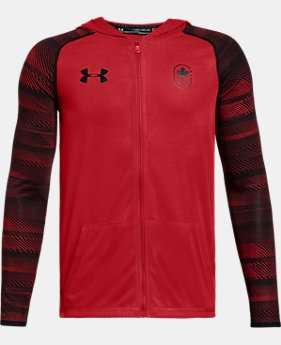 New Arrival  Boys' UA Team Canada Performance Threadborne Knit Full Zip Hoodie  1 Color $50