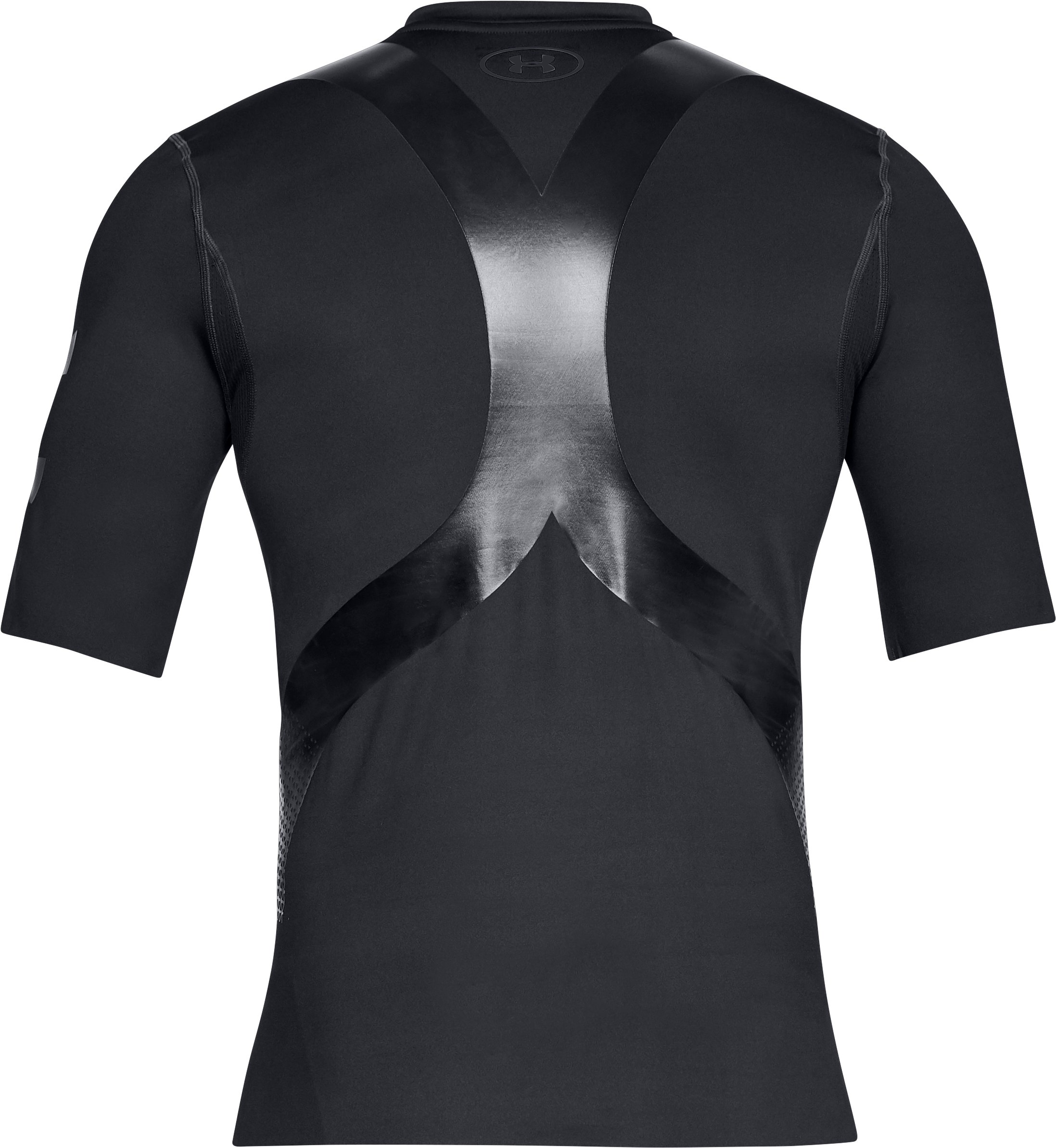 Men's UA Perpetual Powerprint ½ Sleeve, Black ,
