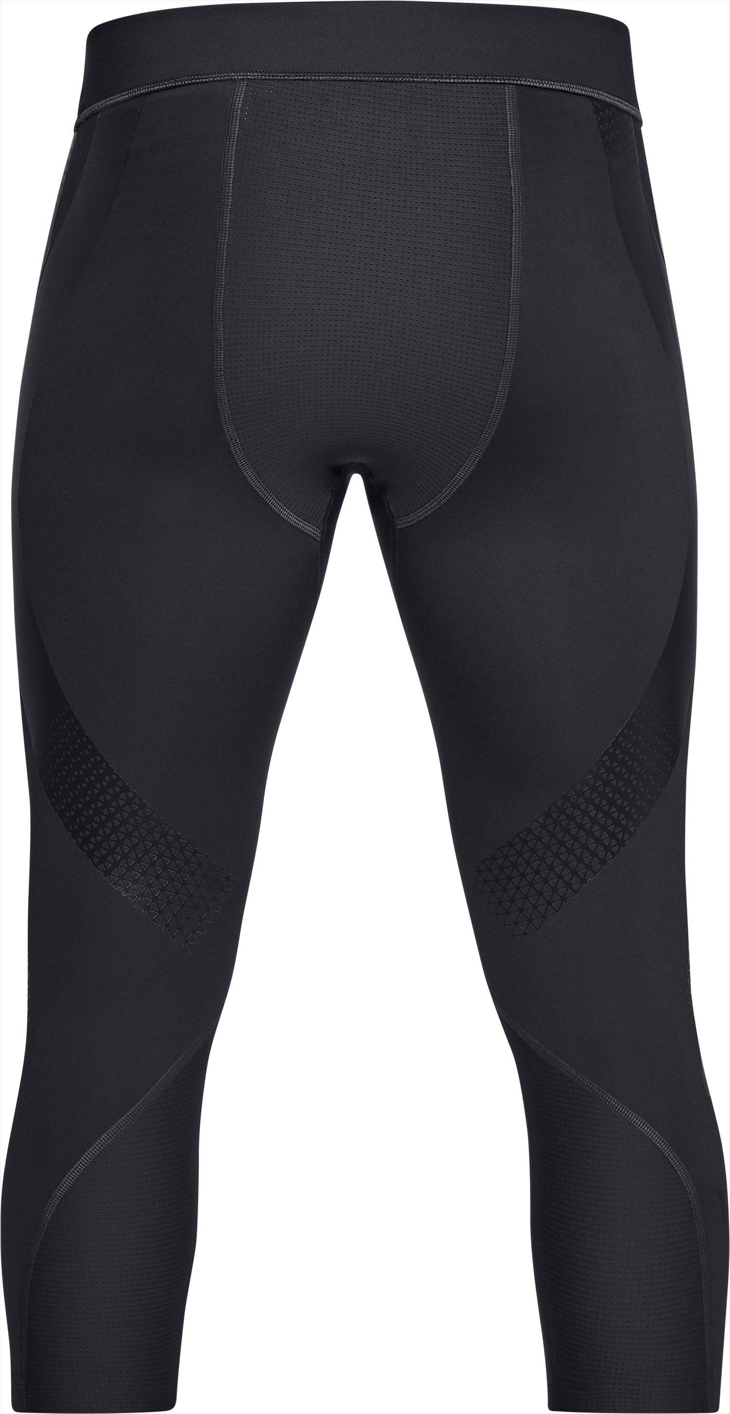Men's UA Perpetual Powerprint ½ Leggings, Black ,