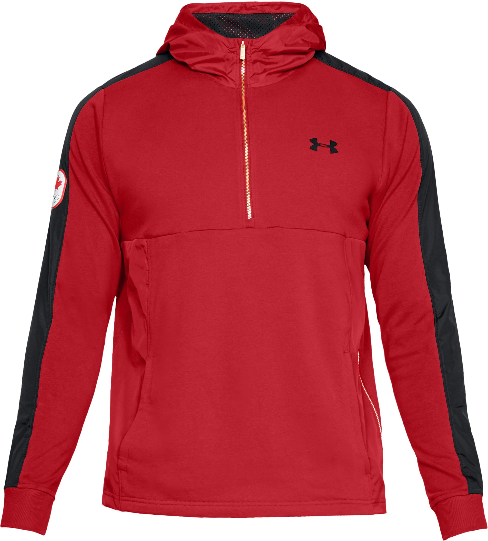 Men's UA Team Canada Performance Threadborne Terry ½ Zip Hoodie, Red,