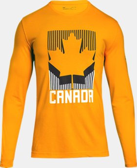 New Arrival  Men's UA Team Canada Performance Long Sleeve T-Shirt  1 Color $40