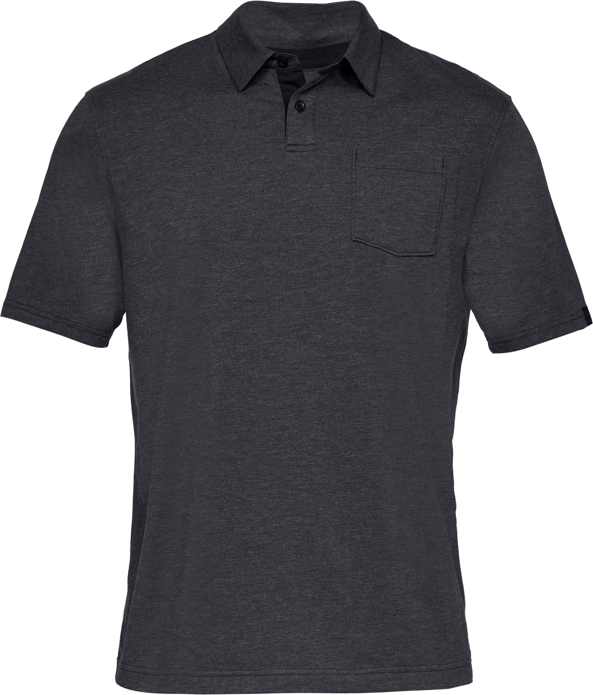Men's Charged Cotton® Scramble Polo, Black ,