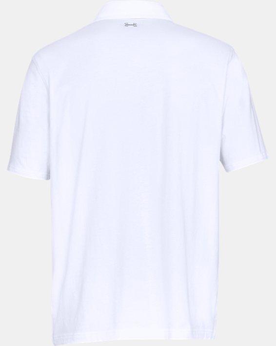 Men's Charged Cotton® Scramble Polo, White, pdpMainDesktop image number 4