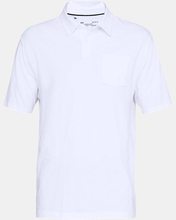 Men's Charged Cotton® Scramble Polo, White, pdpMainDesktop image number 3