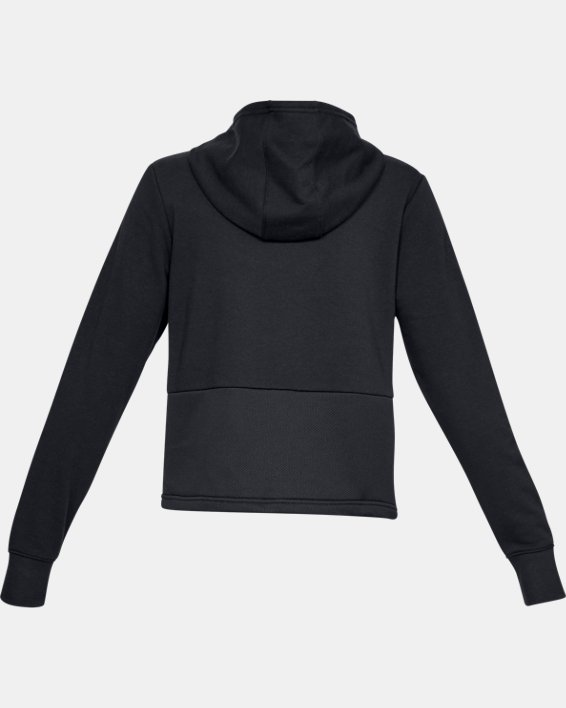 Women's UA 24/7 Microthread Hoodie, Black, pdpMainDesktop image number 5