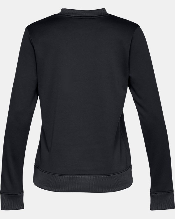 Women's Armour Fleece® Crew, Black, pdpMainDesktop image number 4