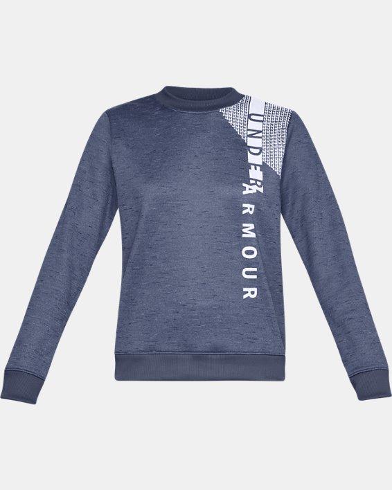 Haut à col ras du cou Armour Fleece® pour femme, Blue, pdpMainDesktop image number 3