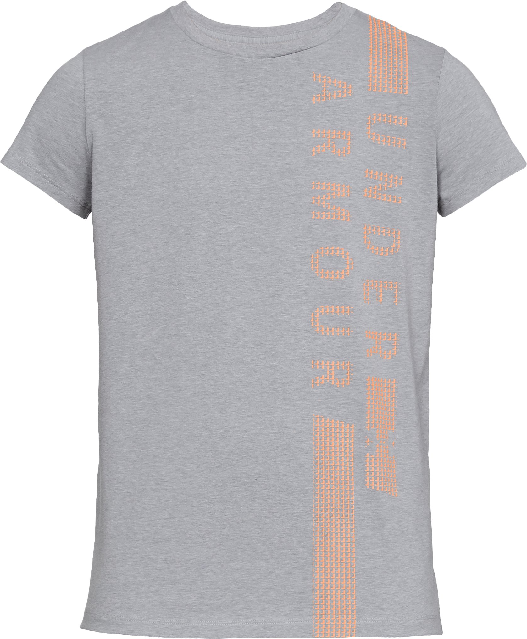 Women's UA Vertical T-Shirt, STEEL LIGHT HEATHER,
