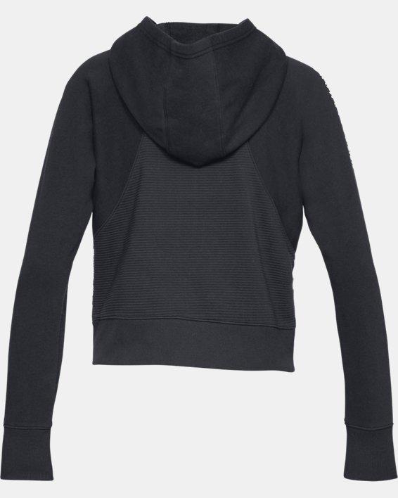 Women's UA Microthread Fleece Graphic Full Zip, Black, pdpMainDesktop image number 5