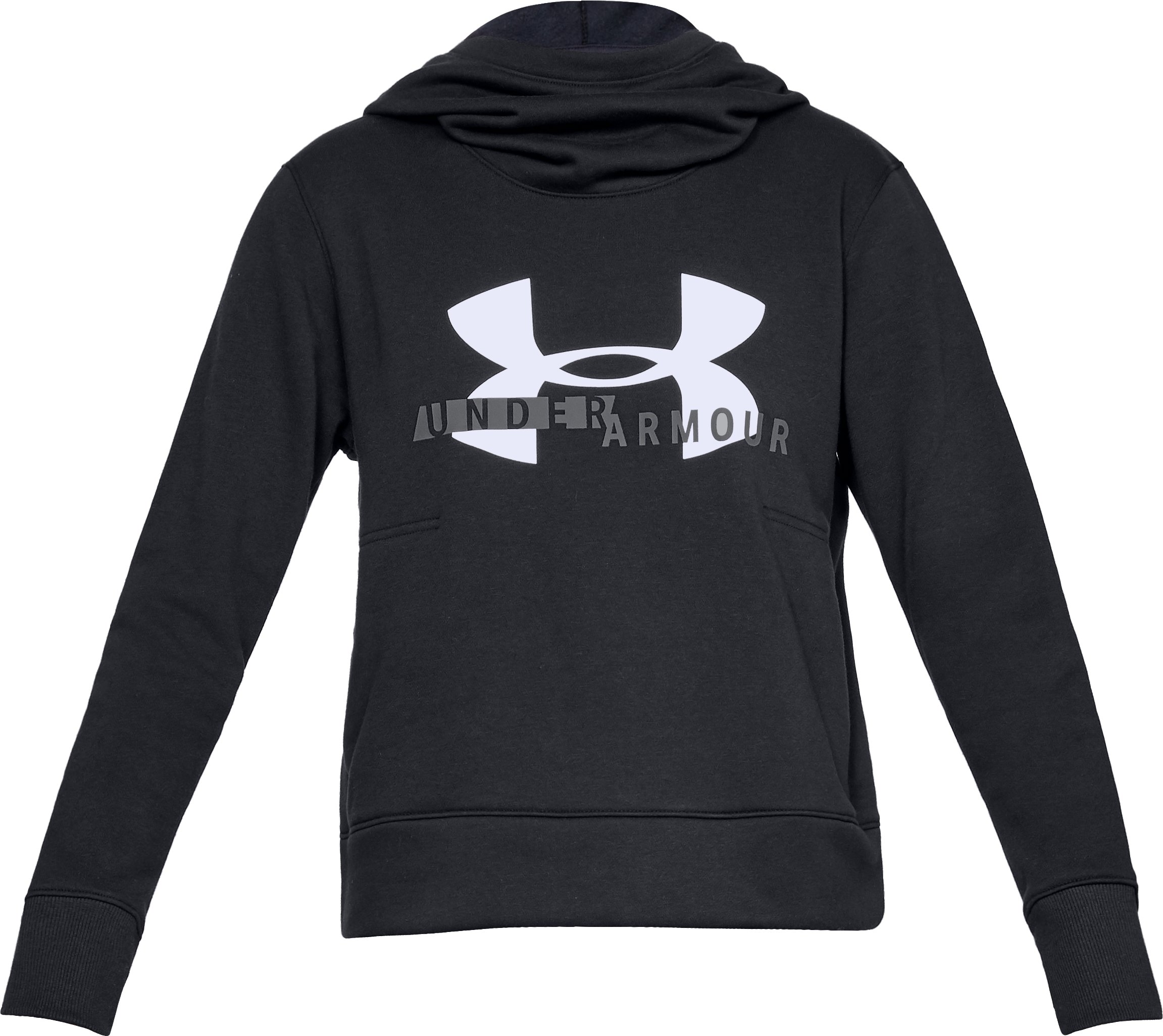 Women's UA Rival Fleece Logo Hoodie, Black ,