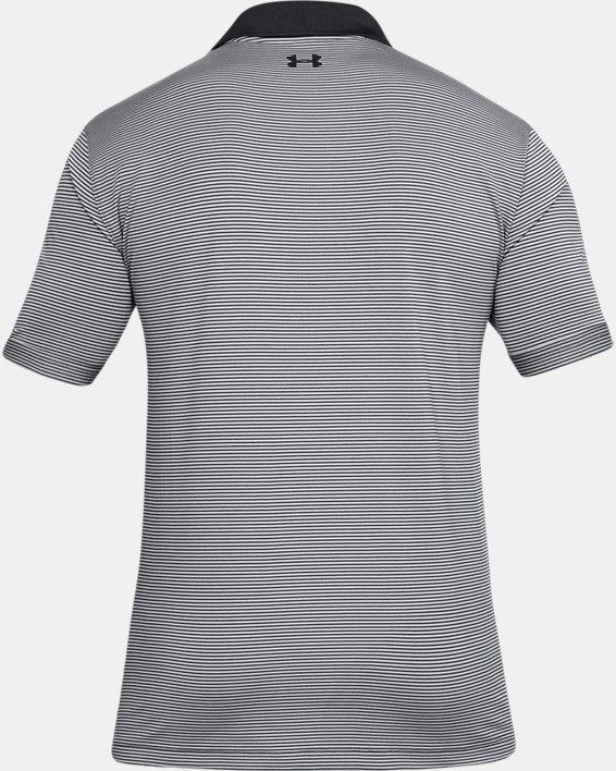 Men's UA Performance Polo Patterned, Black, pdpMainDesktop image number 4