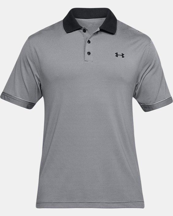 Men's UA Performance Polo Patterned, Black, pdpMainDesktop image number 3