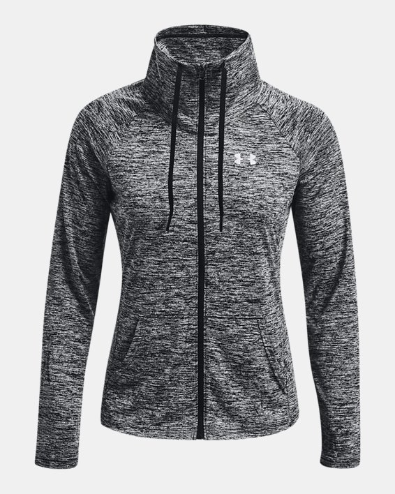 Women's UA Tech™ Twist Full Zip, Black, pdpMainDesktop image number 3