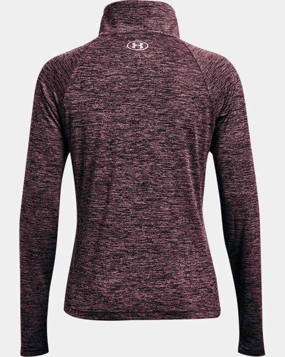 Damen UA Tech™ Oberteil mit Twist-Effekt und durchgehendem Zip, Purple, pdpMainDesktop image number 4