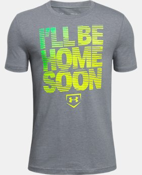 New Arrival Boys' UA I'll Be Home Soon T-Shirt  1 Color $20