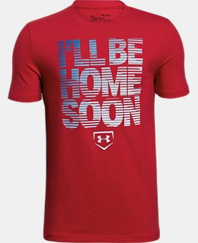 Boys' UA I'll Be Home Soon T-Shirt FREE U.S. SHIPPING 2  Colors Available $20