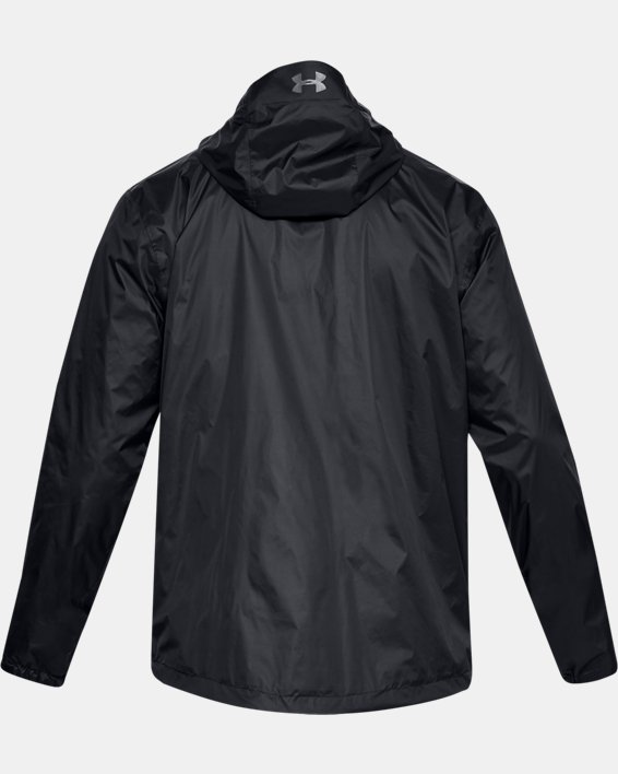 Men's UA Forefront Rain Jacket, Black, pdpMainDesktop image number 4