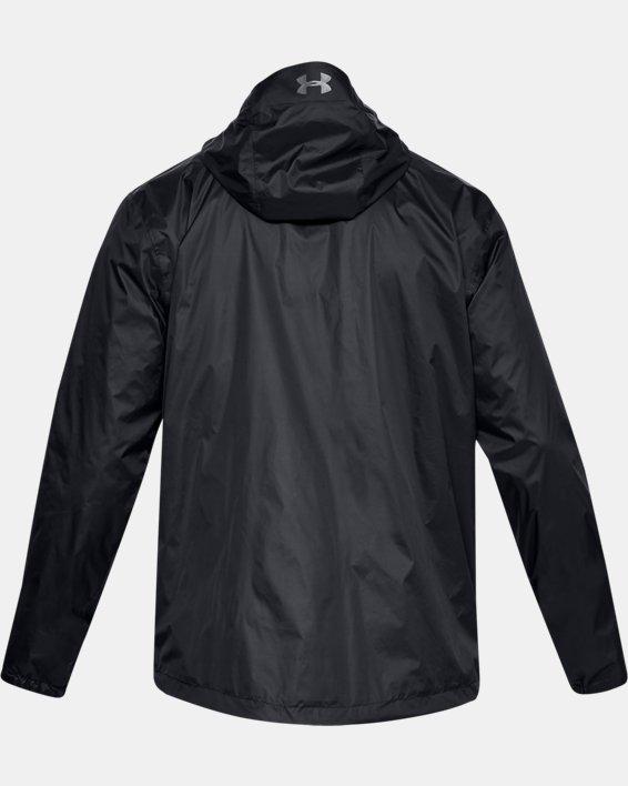 Men's UA Forefront Rain Jacket, Black, pdpMainDesktop image number 4