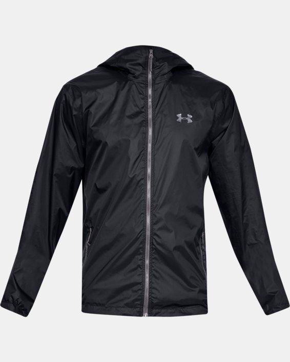 Men's UA Forefront Rain Jacket, Black, pdpMainDesktop image number 3