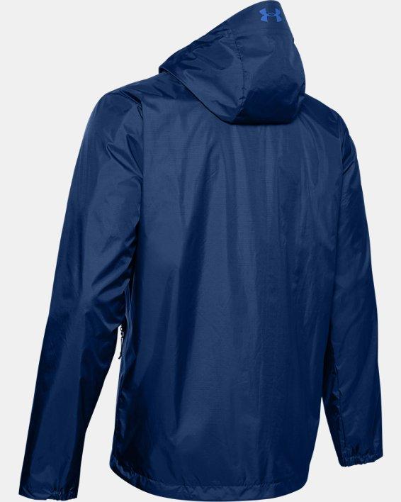 Men's UA Forefront Rain Jacket, Blue, pdpMainDesktop image number 5
