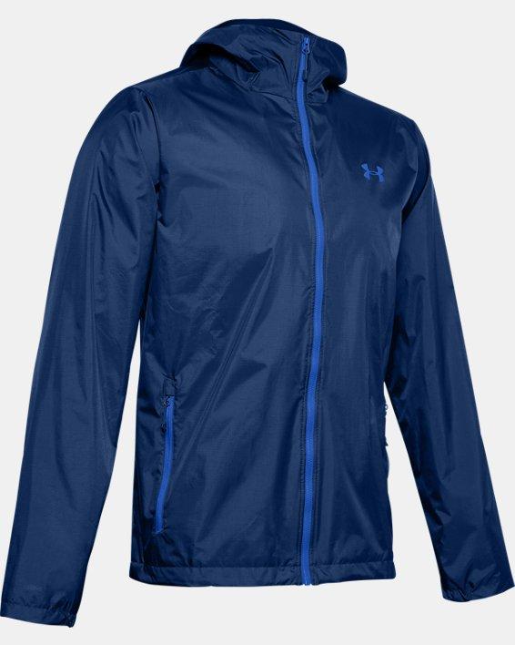 Men's UA Forefront Rain Jacket, Blue, pdpMainDesktop image number 4