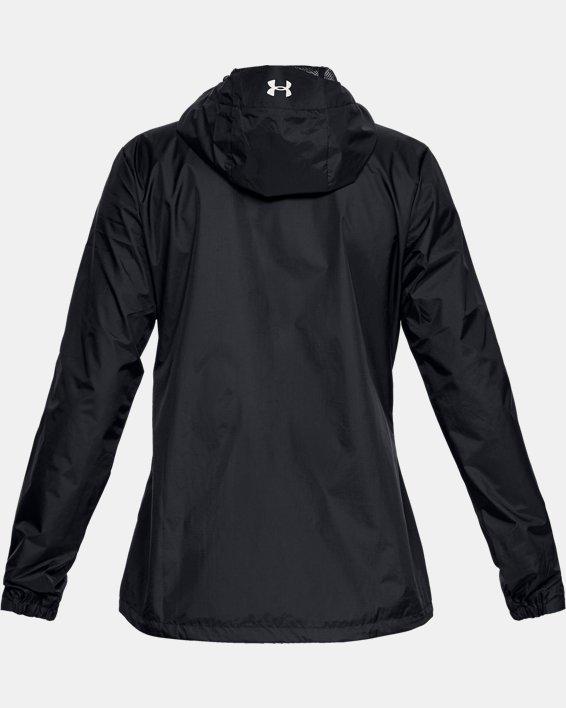 Women's UA Forefront Rain Jacket, Black, pdpMainDesktop image number 5