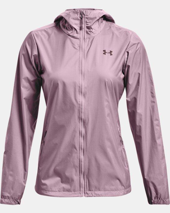 Veste UA Forefront Rain pour femme, Pink, pdpMainDesktop image number 3