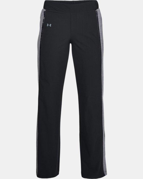 Women's UA Woven Wide Leg Pants, Black, pdpMainDesktop image number 4