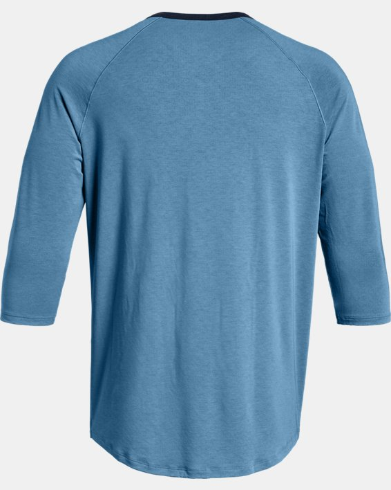 Men's UA RECOVER™ Sleepwear Henley, Blue, pdpMainDesktop image number 4