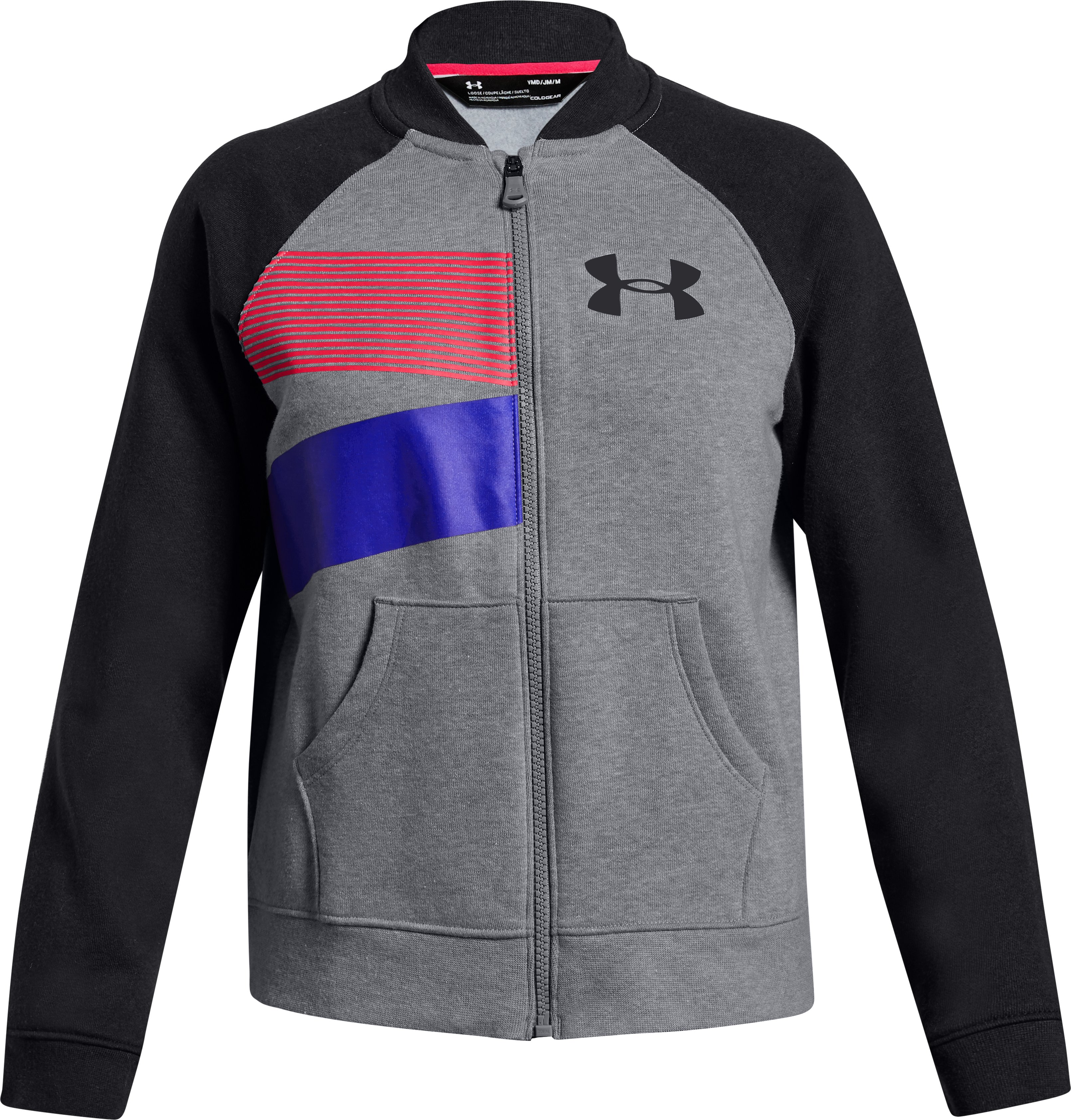 Girls' UA Rival Fleece Bomber Jacket 3 Colors $50.00