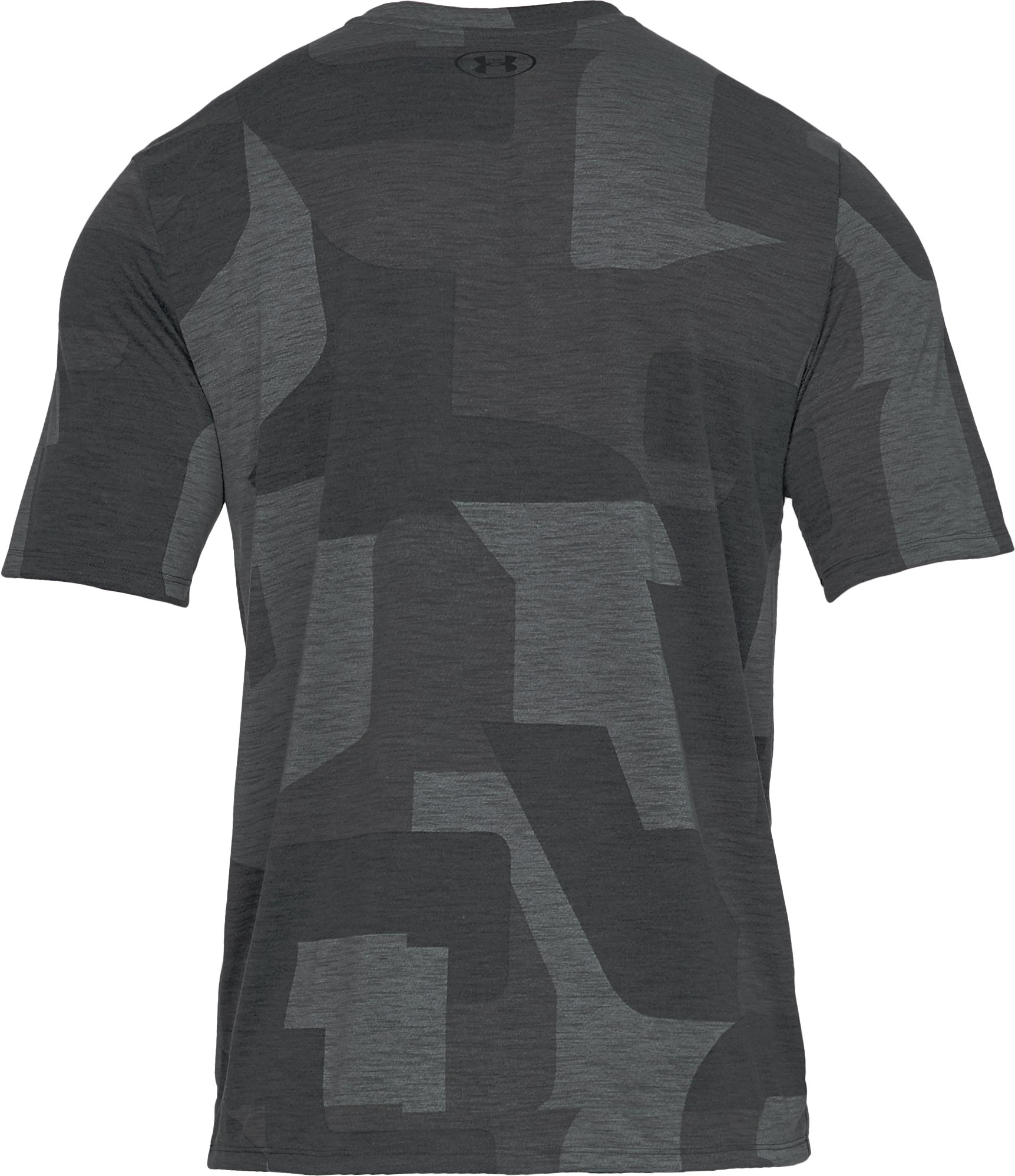Men's UA Siro Print Short Sleeve, Black ,
