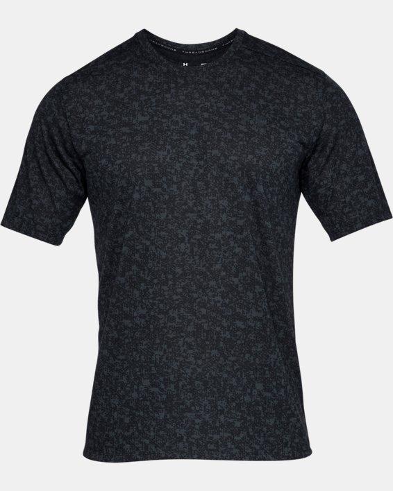 Men's UA Siro Print Short Sleeve, Black, pdpMainDesktop image number 3