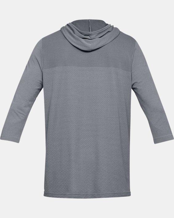 Men's UA Vanish Seamless ¾ Sleeve Hoodie, Gray, pdpMainDesktop image number 5
